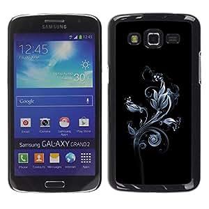 Be Good Phone Accessory // Dura Cáscara cubierta Protectora Caso Carcasa Funda de Protección para Samsung Galaxy Grand 2 SM-G7102 SM-G7105 // Beautiful Floral Pattern