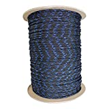 SGT KNOTS Paracord 550 Type III 7 Strand - 100% Nylon Core and Shell 550 lb Tensile Strength Utility Parachute Cord for Crafting, Tie-Downs, Camping, Handle Wraps (Blue Knight - 25 ft)