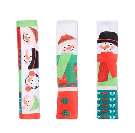 Amazon.com: Juego de 3 cubiertas para manillar de Navidad ...