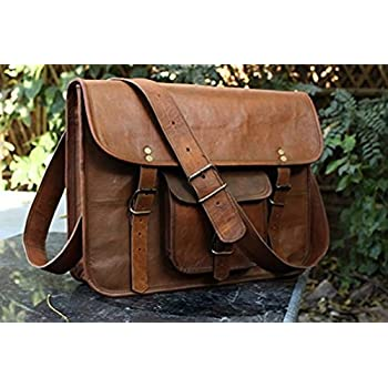Amazon.com: Wowbox Messenger Satchel bag for men and women,Vintage ...