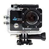 "Boblov SJ9000 4K HD WiFi Sports Action Camera 2.0\"" LCD 16MP Diving DVR Video Camcorder+Waterproof 50M Diving Light+Battery (I1623) - black"