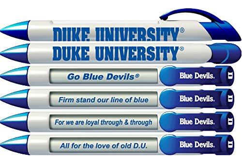 Greeting Pen Duke University Braggin Rights 6 Pen Set (20516)
