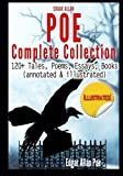Image of Edgar Allan Poe Complete Collection - 120+ Tales, Poems, Essays, Books: (annotated & illustrated)