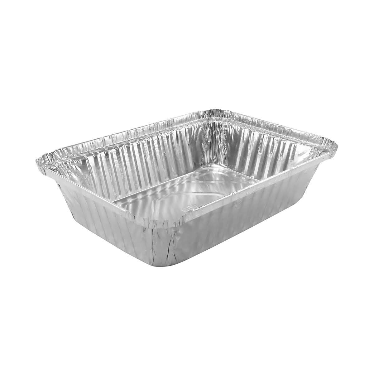 Disposable Aluminum 2 1/4 Lb. Food Storage Pan with Board Lid #250L (250)