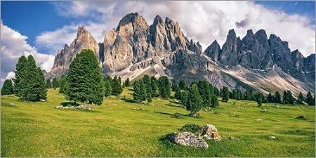 Posterlounge Alu Dibond 40 x 20 cm: Summer in The Dolomite Alps di Achim Thomae