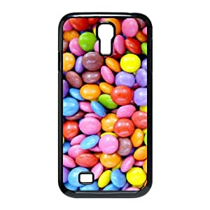 Jackalondon Sweet Colorful Candies Samsung Galaxy S4 Cases, Pattern Case for Samsung Galaxy S4 for Men {Black}