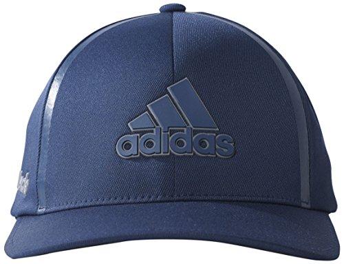 adidas 2017 Tour Delta Flex-Fit Textured Structured Hat Mens Stretch Golf Cap Dark Slate Small/Medium