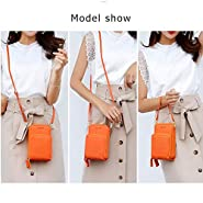 Small Leather Crossbody Cellphone Shoulder Bags for Women,Smartphone Wallet Purse with Removable Shoulder Strip for Shopping