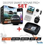 Deeper Smart Sonar Pro + Plus Wifi GPS Echolot Fishfinder + Smartphone Case