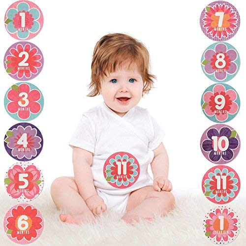 Baby Girls Age 0-12M Rising Star Milestone Photo Prop Belly Stickers Gift Set