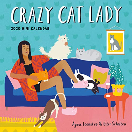 "Crazy Cat Lady Mini Wall Calendar 2020 [7"" x 7"" Inches]"