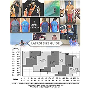 LAFROI Men's Long Sleeve UPF 50+ Loose Fit Rash Guard