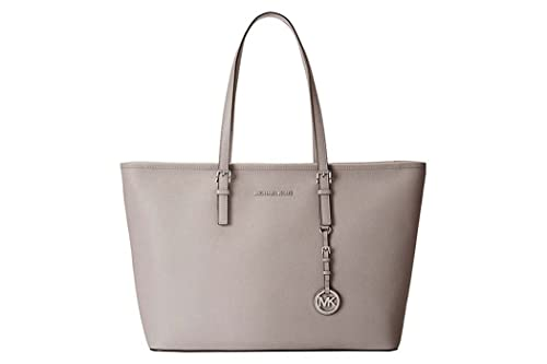 MICHAEL Michael Kors Jet Set Top-Zip Large Travel Tote Bag One Size Grey   Amazon.co.uk  Shoes   Bags 7f8f3f59bf0c5