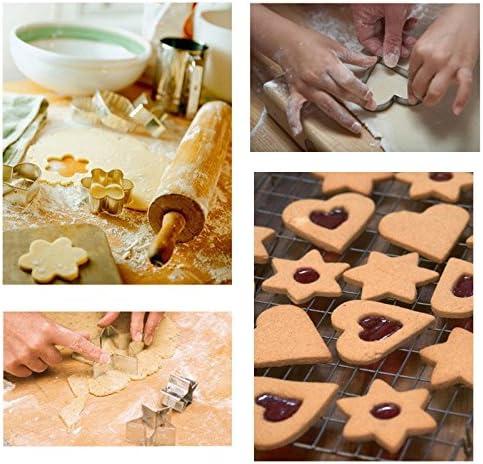 de Fleur d/étoile et de Rond Kiddybo Lot de 12 emportes-pi/èces pour Biscuits de No/ël en Forme de Coeur