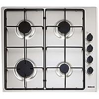 Beko HIZG64101SX–Plaque de cuisson, 4feux, inox, 60cm