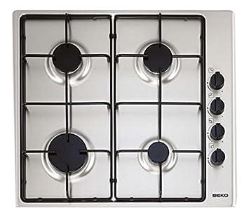 regard détaillé 0b344 e8028 Beko HIZG64101SX – Plaque de cuisson, 4 feux, inox, 60 cm