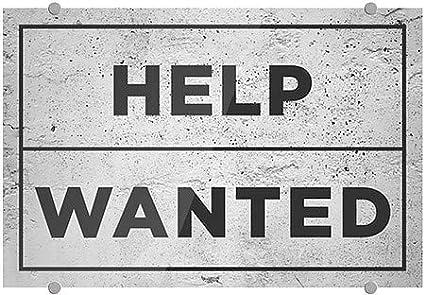 Help Wanted 27x18 5-Pack CGSignLab Basic Gray Premium Acrylic Sign