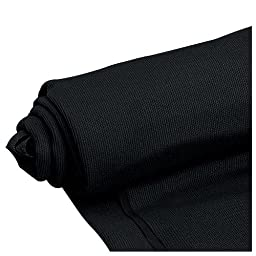 Mellotone Premium Black Speaker Grill Cloth Yard 64\