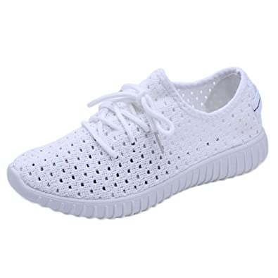 Beladla Zapatillas Deportivas de Mujer Air Cordones Zapatillas de Running Fitness Sneakers Pink Black White 35-42: Amazon.es: Zapatos y complementos