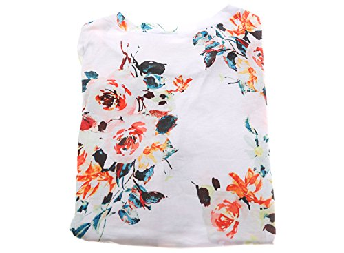Dokotoo Womens Summer Sexy Fashion Floral Tops and Blouses for Juniors White Large by Dokotoo (Image #3)