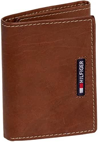 Tommy Hilfiger Men's Leather Embroidered Logo Trifold Wallet