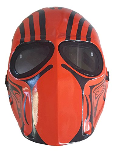 [Invader King ® Kane Airsoft Mask Army of Two Protective Gear Outdoor Sport Fancy Party Ghost Masks Bb] (Smiley Horror Mask)