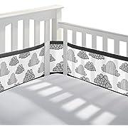 BreathableBaby Classic Mesh Crib Liner, Black