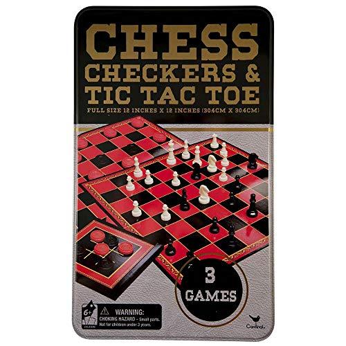Cardinal > Checkers, Chess & Tic-Tac-Toe Tin Box Game