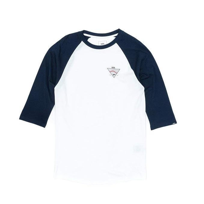 Vans Camiseta Manga Larga Established 66 Raglan Blanco/Azul: Amazon.es: Ropa y accesorios