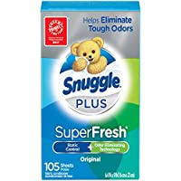 Snuggle Plus Super Fresh Fabric Softener Dryer Sheets (105 Count)