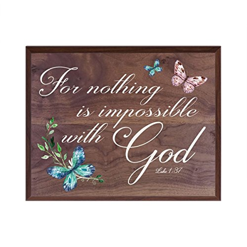 For Nothing is Impossible with God Gift for husband wife best friend wedding annivesary gift ideas 12