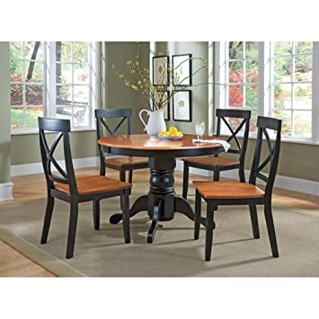 home styles 5168 318 5 piece dining set black and cottage oak finish