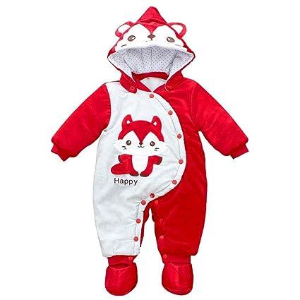 Beatie Rompers bebés chanquetas Invierno térmico bebé Mamelucos, Sacos de Dormir para niños con pies