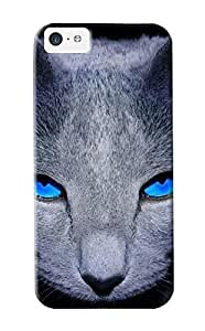 Downturnvver Durable Blue Eye Cat Back Case/ Cover For Iphone 5c For Christmas