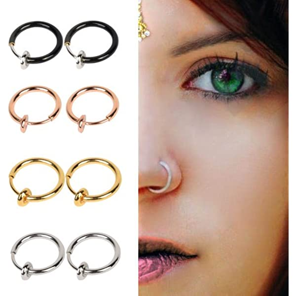 Amazon Com Coolrunner Fake Nose Ring Goth Punk Lip Ear Nose Clip