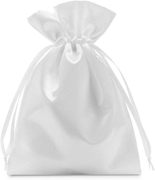 10 bolsas de satén con cordón para cerrar, tamaño 30x20 cm, bolsita de satén, envoltorio elegante para regalos, joyas, navidad, cumpleaños y bautizos ...