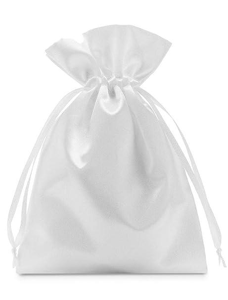 10 bolsas de satén con cordón para cerrar, tamaño 40x30 cm ...