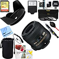 Nikon AF-S DX Micro-NIKKOR 40mm f/2.8G Lens - 2200 + 64GB Ultimate Filter & Flash Photography Bundle