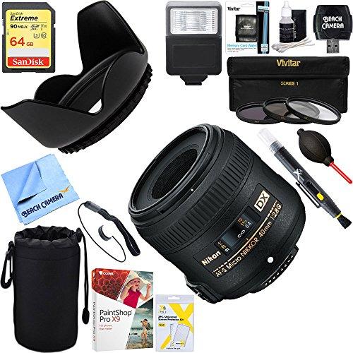 Nikon AF-S DX Micro-NIKKOR 40mm f/2.8G Lens - 2200 + 64GB Ul