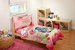 Disney 4 Piece Sheriff Callie Cutest Cowgirl Toddler Bed Set, Pink
