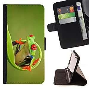 Jordan Colourful Shop - green happy nature animal jungle For Apple Iphone 4 / 4S - Leather Case Absorci???¡¯???€????€????????&c
