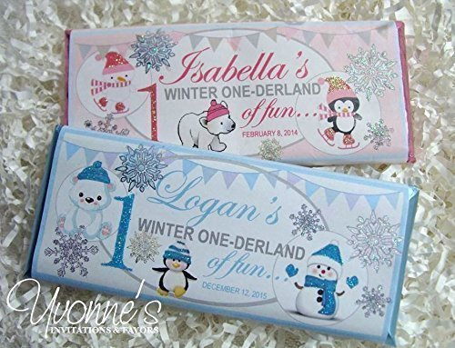 Winter Wonderland Candy Bar Wrappers - Personalized