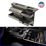 MX Auto Accessories Salient Customizable Center Console Organizer - Compatible with Select Chevrolet and GMC Trucks and SUVs - 13.2