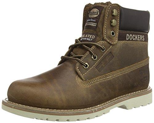 Dockers Cuero 460 Desert para Braun de Hombre Botas 33CR001 Marrón r1qwFSr
