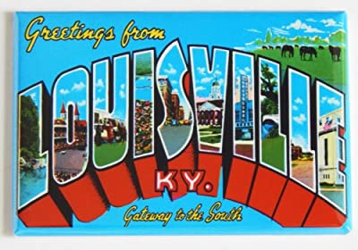 Greetings From Louisville Kentucky Fridge Magnet (2 x 3 inches)