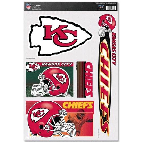 WinCraft NFL Kansas City Chiefs Ultra Decal Sheet Team Color 11x17