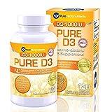 Vitamin D Supplement 1000 IU, Natural D3 Supplements, Premium Grade (Cholecalciferol), 120 Count - Pure Micronutrients
