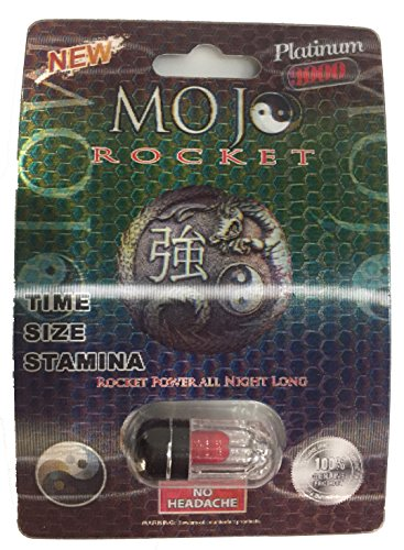 MojoRocket All Natural Male Enhancement Sex Pill, Fast Acting, No Headache, Guarenteed to Work, 3D Cards (12) by MojoRocket