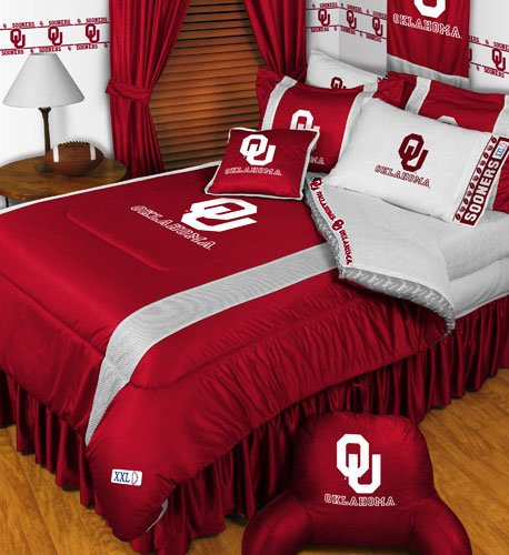 NCAA Oklahoma Sooners - 5pc BED IN A BAG - Full/Double Size (Oklahoma Full Sooners Comforter)