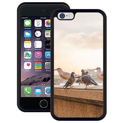 Tauben | Handgefertigt | iPhone 6 6s (4,7') | Schwarze Hülle